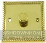 Monarch Roped Polished Brass Dimmer Switches